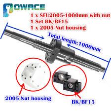 SFU2005 L1000mm Ballscrew C7 with Nut+BK/BF15 end Support+Ballnut Housing CNC