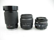 3x Objektiv lens für Minolta AF Exakta 28-210mm Sony 18-55 SAM Minolta 35-70 1:4
