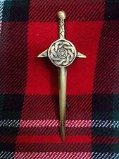 """TC Celtic Knot Shield Design Kilt Pin Antique/Kilt Pin Celtic Shield Sword 4"""""""
