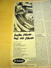 PUBBLICITA' ADVERTISING WERBUNG 1969 DEO-SPRAY DR SCHOLL'S (G19)