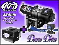 2500lb KFI Steel Winch Mount Combo -Can-Am Renegade 500 570 800 850 1000 2012-18