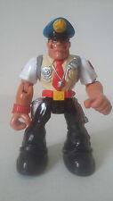 FIGURINE RESCUE HEROES - COP POLICIER SERGEANT SIREN - MATTEL 2000