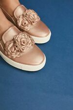 NIB ANTHROPOLOGIE Chie Mihara DESIGNER Floral Sneakers Slip on Shoes Rose Sz 41