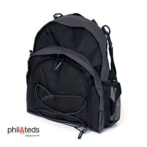 New Black PHIL AND TEDS BACKPAC X Nursery, Nappy, Unisex Universal Changing Bag