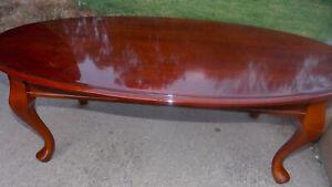Mid Century Cherry Oval Coffee Table  (CT249)