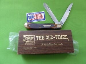 "Schrade USA made '94OT' Old Timer ""Gunstock Trapper""-MIB with Papers"