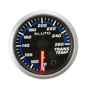 """2"""" 52mm Transmission Temperature Gauge Trans Temp °F Meter 7 Color LED w/ Sensor"""