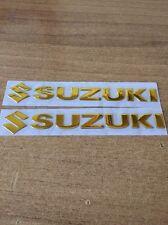 2 Adesivi Serbatoio Suzuki in resina 3d decal stickers Bandit GSX GSR SV V-storm