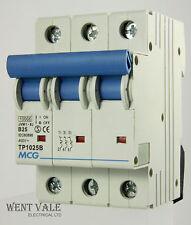 MCG JVM1 - 63 TP1025B - 25a Type B Triple Pole MCB Used