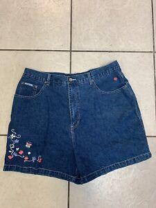Women's R.V.T Serve Piping Hot Denim Shorts Blue  Size 20