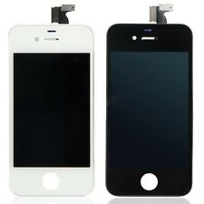 PER IPHONE 4 4S DISPLAY NERO/BIANCO TOUCH SCREEN + LCD + CORNICE GIA' ASSEMBLATI