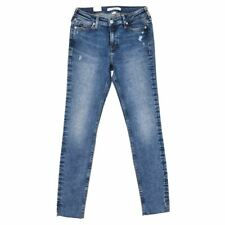 CALVIN KLEIN Jeans Faded Blue Distressed Super Skinny Size 27 RRP £95 RL 300