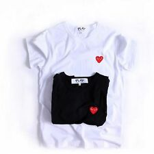 UK uomo Comme Des Garcons CDG PLAY ROSSO CUORE T-shirt donna corto top t shirt