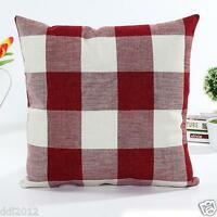 Vintage Geometric Stripe Cotton Linen Throw Pillow Case Cushion Cover Home Decor