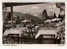 Foto AK GARMISCH-PARTIENKIRCHEN um 1950/53 Wintergarten Hotel Flora  ( 1855