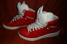 ADIDAS NUOVO rosso in pelle/pelle verniciata SYN Sneaker Alte Stivali UK 5 EUR 38