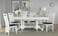 Chatsworth & Java Extending White Dining Table & 4 6 Chairs Set