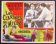LOS CLARINES DEL MIEDO Matador Bullfighter FRANCISCO RABAL Lobby Card Photo 1958