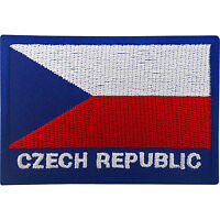 Czech Republic Flag Patch Iron On / Sew On Badge Embroidered Embroidery Applique