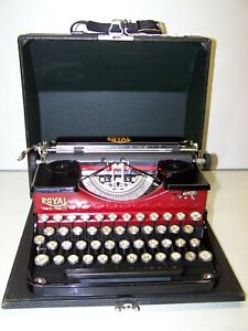 Antique 1931 Red and Black Royal P-Model Vintage Typewriter #P29218