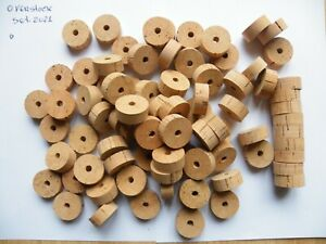 """100 CORK RINGS OVERSTOCK FLOR 1 1/4""""X1/2"""" BORE 1/4"""" - FREE SHIP WORLDWIDE!!!!"""