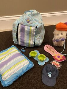 American Girl Coconut Dog With Doghouse And Accessories Retired