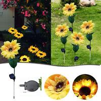 Gartenleuchten Solar LED Licht Wasserdicht Sonnenblumen Rasen Licht Innenhof Dek