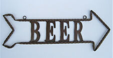 "HANGING METAL ART BEER SIGN ARROW 24"" LONG"