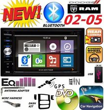 02 03 04 05 DODGE RAM GPS NAVIGATION SYSTEM BLUETOOTH DVD VIDEO CAR STEREO RADIO