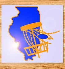 "6"" Illinois Disc Golf Vinyl Decal"