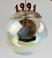 Vintage Peace On Earth 1991 Glass Christmas Tree Ornament