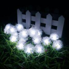 16ft 20LED Solar Light Party Light Garden Home Decor Lighting Lamp String Bids