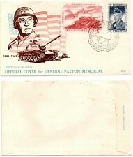 Belgium - General Patton Memorial (Scott #B609-B610) 1957 Fdc *Rare*