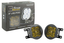 SS3 LED SAE/DOT Type A Fog Light Kit Pro Fog Optic Yellow Diode Dynamics