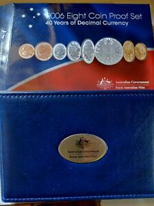 2006 Australian 8 coin proof set RAM - 40 Years of Decimal Currency