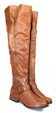 legend-38 Fashion Over the Knee Zipper Casual Women's Winter Boots Shoes Tan 8.5