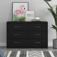 6 Drawer Chest of Drawers - Matt Black - Tromso - Modern Furniture