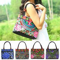 BG_ Vintage Embroidery Boho Womens Handbag Flower Embroidered Ethnic Tote Bag Co