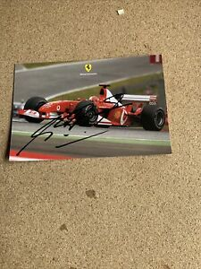 Ferrari- Michael Schumacher signed card 1950/03