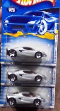 2001 HOT WHEELS 1/64 LOTUS M250 SILVER FIRST EDITION #13 NEW SET OF 3 UNOPENED