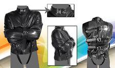 Men Leather Bondage Strait jacket in  Size X L