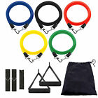 11 in1 Resistance Set Yoga Pilates Abs Latex Exercise Fitness Tube Workout Bands
