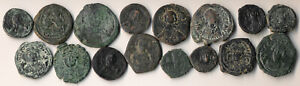 16 ANCIENT BYZANTINE COPPERS (NICE COLLECTIBLE LOT) SEE PICTURES > NO RESERVE