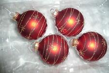 Christbaumkugel Weihnachtskugel Christbaumschmuck Krebs Glas Lauscha gold rot