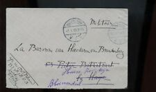 Netherlands Cover 1914 Tilburg to La Hague, rerouted to Bloemendaal