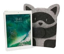 High Quality Grey Felt Tablet Case W/ Raccoon Design For the Apple iPad (2017)