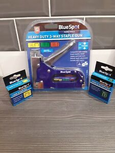 Blue Spot Heavy Duty 3 Way Stable Gun With 2000 Extra Staples