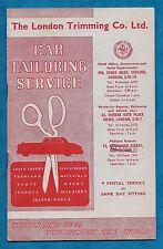 "1960 BROCHURE ""THE LONDON TRIMMING CO. LTD"" CAR TAILORING SERVICE"