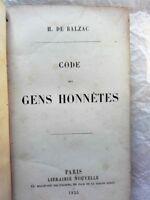 BALZAC  Code des gens honnêtes, Paillet (Léon), Voleurs et volés EO