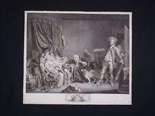 1er état de Gravure : Jean-Baptiste GREUZE (1725-1805) Jean MASSARD (1740-1822)